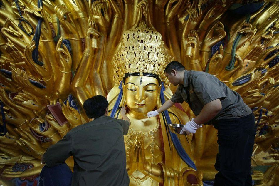 重庆重现八百岁千手观音 游客下月可见
