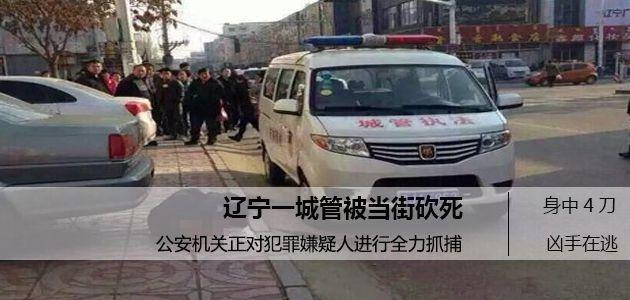 辽宁一城管执法中被砍身亡