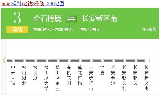 东莞地铁3号线站点